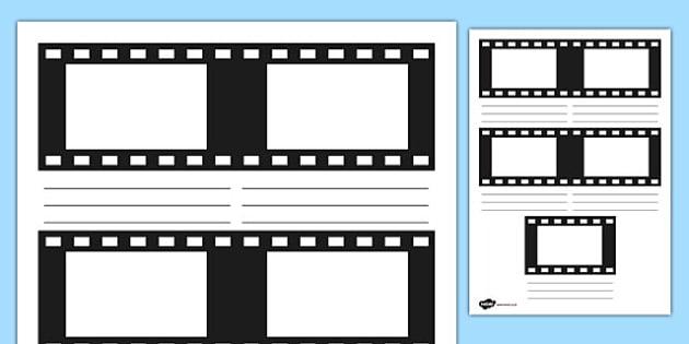 Film Strip Storyboard Template - film strip, storyboard, story