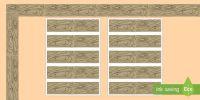 Rustic Chic Wood Display Borders - Classroom, Display, rustic