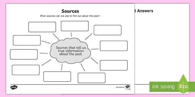 Sources Differentiated Worksheet / Worksheets - Primary Sources