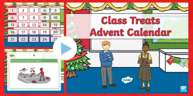 Class Treat Advent Calendar PowerPoint - advent, Christmas - Calendar Class