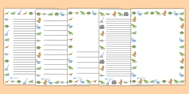 Dinosaurs Page Borders - Dinosaur, page border, a4 border, template