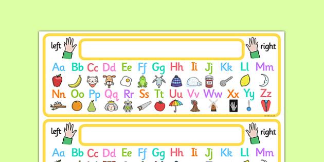 FREE! - Alphabet Strip with Pictures - alphabet, alphabet strip