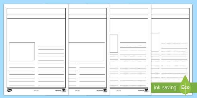 Newspaper Template Writing Frame - newspaper template for kids
