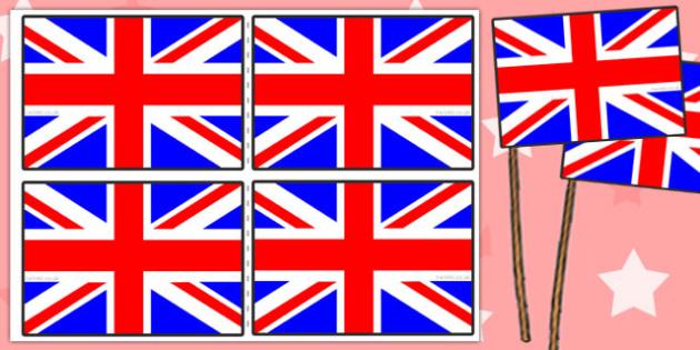 FREE! - Union Flag Handheld Flags - Union, Jack, Britain, British, flag