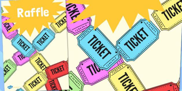 Raffle Poster - raffle, poster, summer, fair, fayre, prize, win
