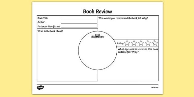 Book Review Template KS2 - book review template ks2, book - book reviews template