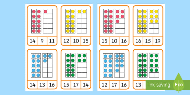 NEW * Ten-Frame Counting to 20 Matching Game