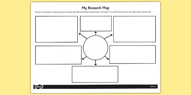 My Research Map Template - research, map, template, research map - Map Template