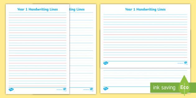 Year 1 Handwriting Lines Sheet - English, literacy, australia