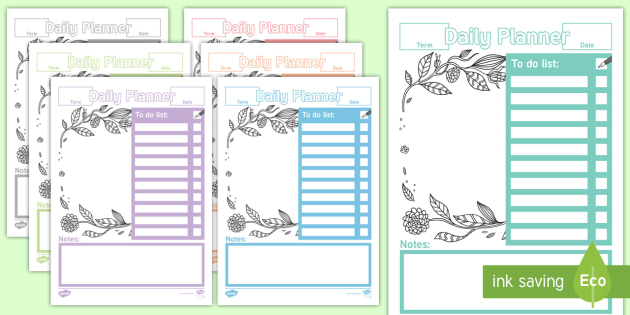 Daily Teacher Planner - planning, teachers, daily, plan, teach