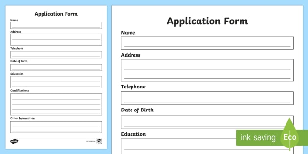 Job Application Editable Proforma - job, search, apply, application