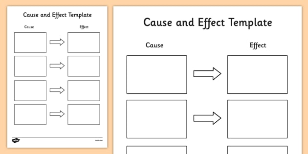 Cause and Effect Template - cause and effect, cause and effect template