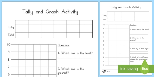 Tally And Graph Worksheet Template Australia Tally Graph