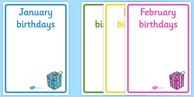FREE! - Editable Birthday Display Posters - Birthday, birthday poster