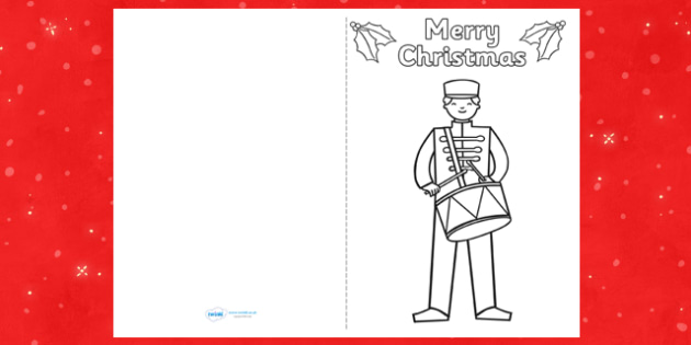 Toy Soldier Christmas Card Templates - cards, card, templates, toy