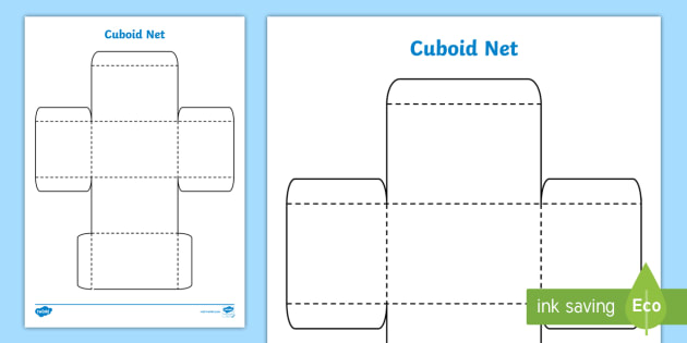 FREE! - 3D Net of a Cuboid - Primary Resource