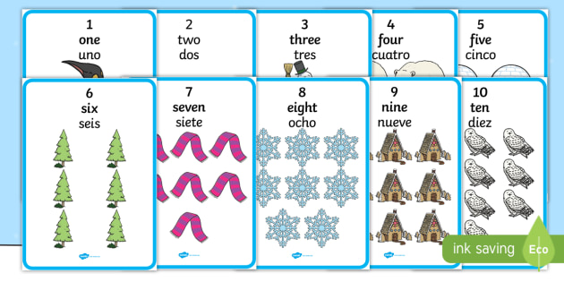 NEW * Winter Themed Words  Numbers (1-10) Display Posters
