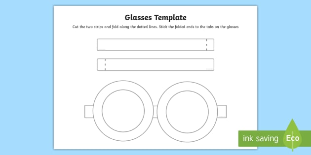 FREE! - Glasses Template - glasses, template, role play, craft activity