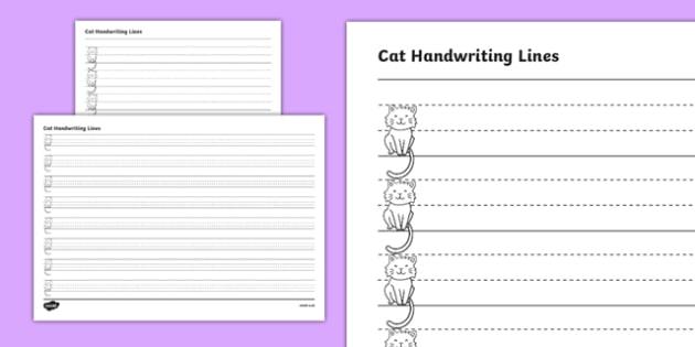 Cat Thirds Handwriting Lines - australia, cat, thirds, handwriting lines