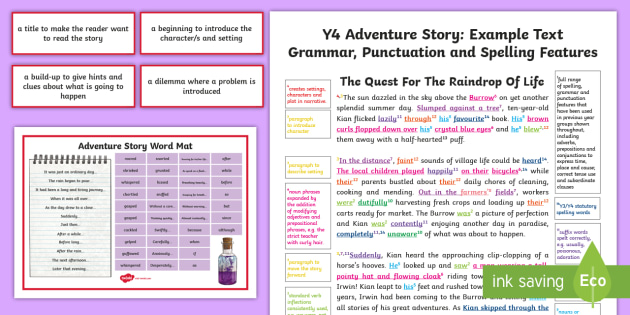 Y4 Story Writing Adventure Model/Example Text - wagoll, moderation