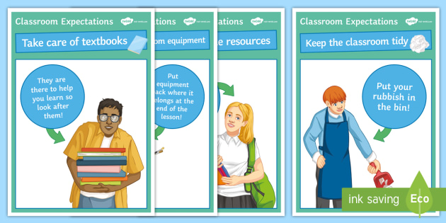 NEW * KS3 Classroom Expectations Display Posters - Display poster