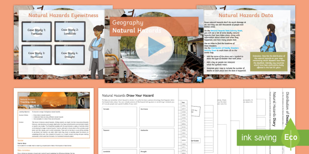 Editable Natural Hazards Lesson Pack