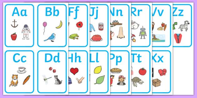 Alphabet Picture Cards - alphabet, a-z, alphabet cards, a-z