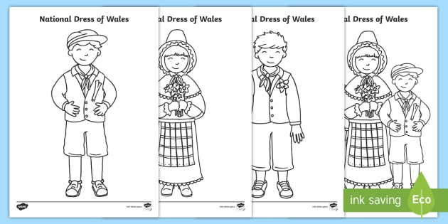 Welsh Flag Colouring Page - flag, colouring, welsh, st david