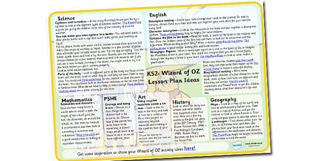 Wizard of OZ Lesson Plan Ideas KS2-wizard of oz, lesson plan