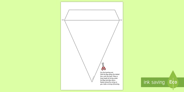 Blank Bunting Template - Foundation Phase