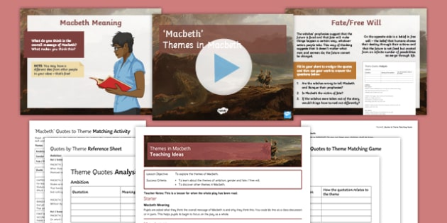 GCSE Macbeth Themes Resource Pack