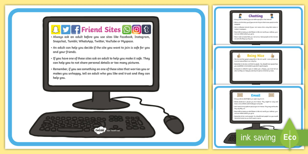 Different Kinds of Online Internet Safety Display Posters - poster on line