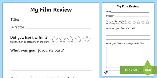 Film Review Writing Frame - film review, film, review, writing