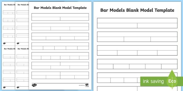 Bar Model Blank Models Template - bar modelling, concrete - model template