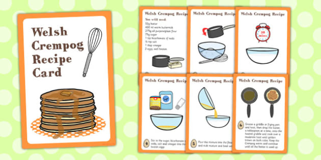 Crempog Recipe Card - crempog, recipe cards, wales, recipe - recipe card