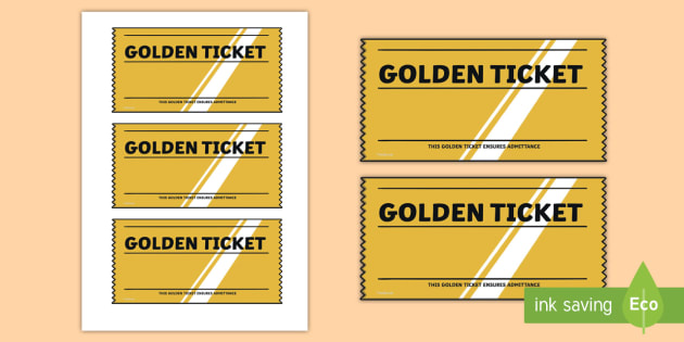 Golden Ticket Editable Writing Template - Golden Ticket Editable - play ticket template