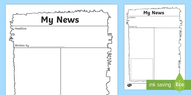 Egyptian Papyrus Newspaper Writing Template - newspaper, old - writing template