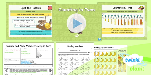 PlanIt Maths Y2 Number and Place Value Lesson Pack Counting in - place value unit