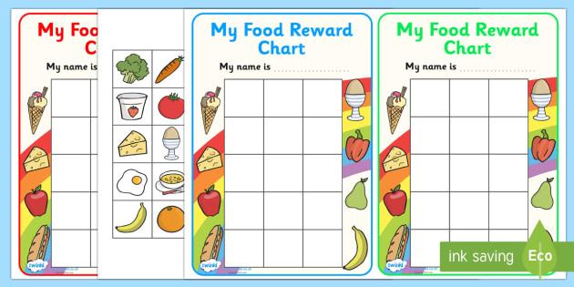 FREE! - My Food Reward Chart - food, award, reward, reward chart, praise