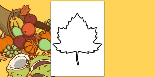 Blank Autumn Leaf Template - blank, autumn leaf, template
