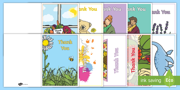FREE! - Thank You Card Writing Template - Blank editable card templates