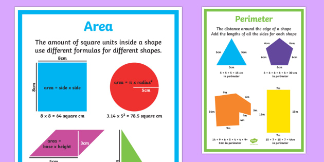 Entry3 Measuring Perimeter And Area Poster Large Perimeter Poster
