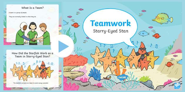 NEW * Starry-Eyed Stan Teamwork PowerPoint - Twinkl Originals - teamwork powerpoint