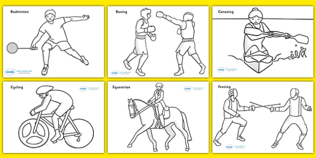 The Olympics Sport Colouring Colouring Sheets Olympics