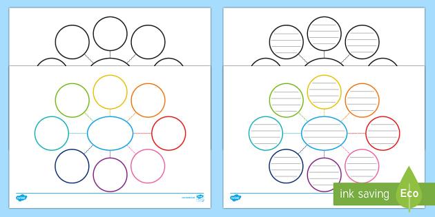 Blank Mind Maps - mind map, spider diagram, graphic organiser