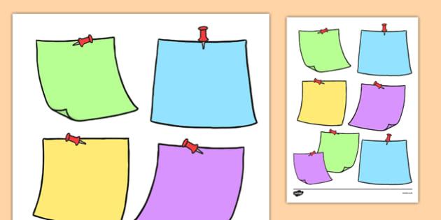 Editable Sticky Notes Themed Sheet - editable, sticky note, post-it