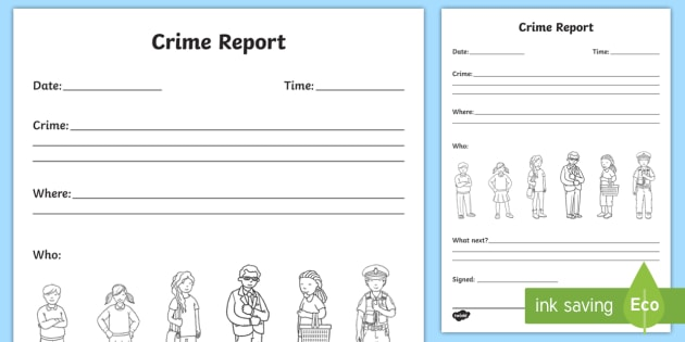 Crime Report Writing Template - crime, crime scene, police - crime report template