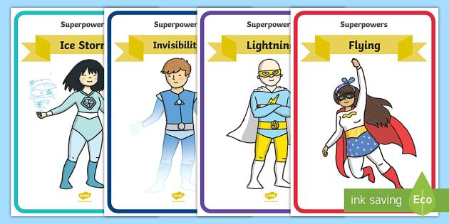 Superhero Special Powers Display Posters - Superhero, superheroes, hero