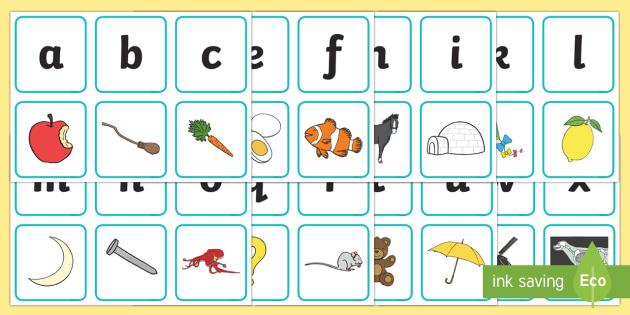 Alphabet Matching Picture Card Game - game, activity, fun, fun