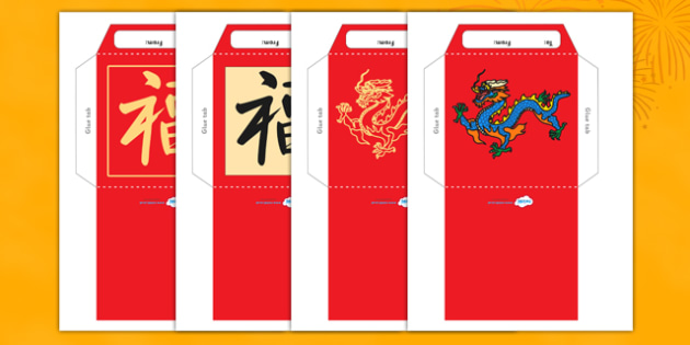 Chinese New Year Money Wallet Envelope Template - chinese new year